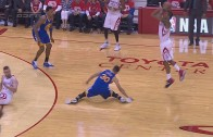 Steph Curry suffers sprained right knee on awkward slip