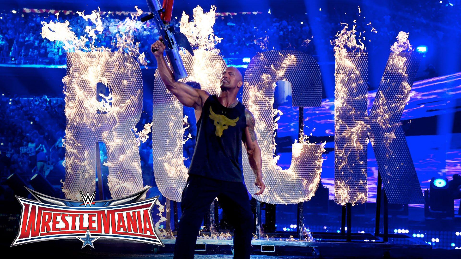 The Rock makes his return at Wrestle Mania 32 in Dallas