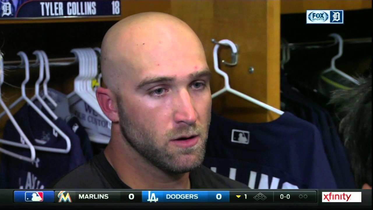 Tigers outfielder Tyler Collins says he let his emotions get the best of him