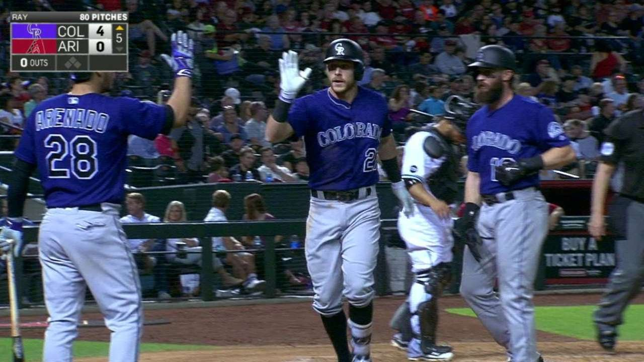 Trevor Story ties home run record for rookies in April