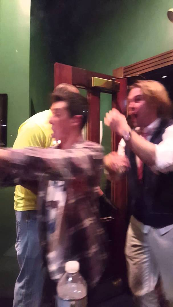 Villanova fans go nuts after buzzer beating win