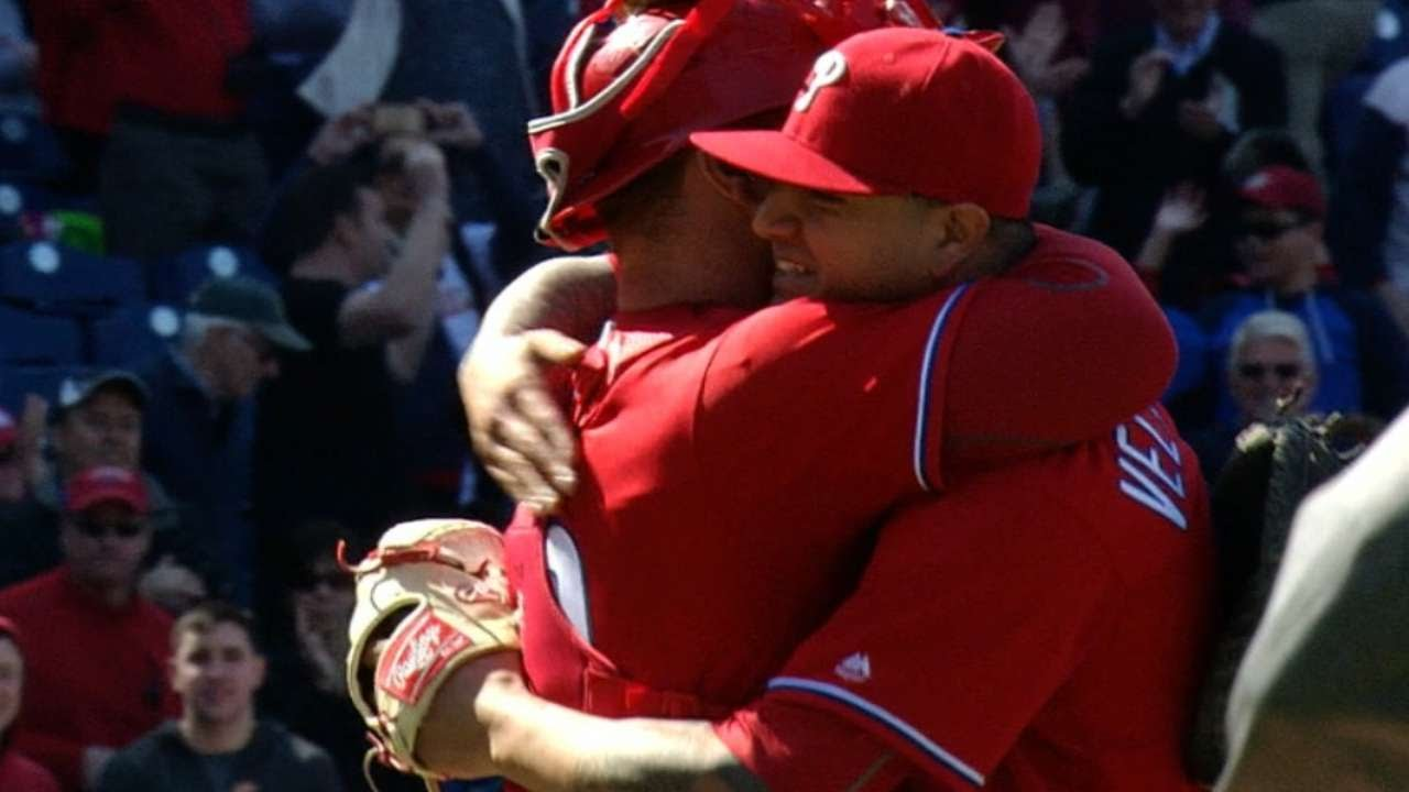 Vince Velasquez strikes out 16 in a complete game shutout