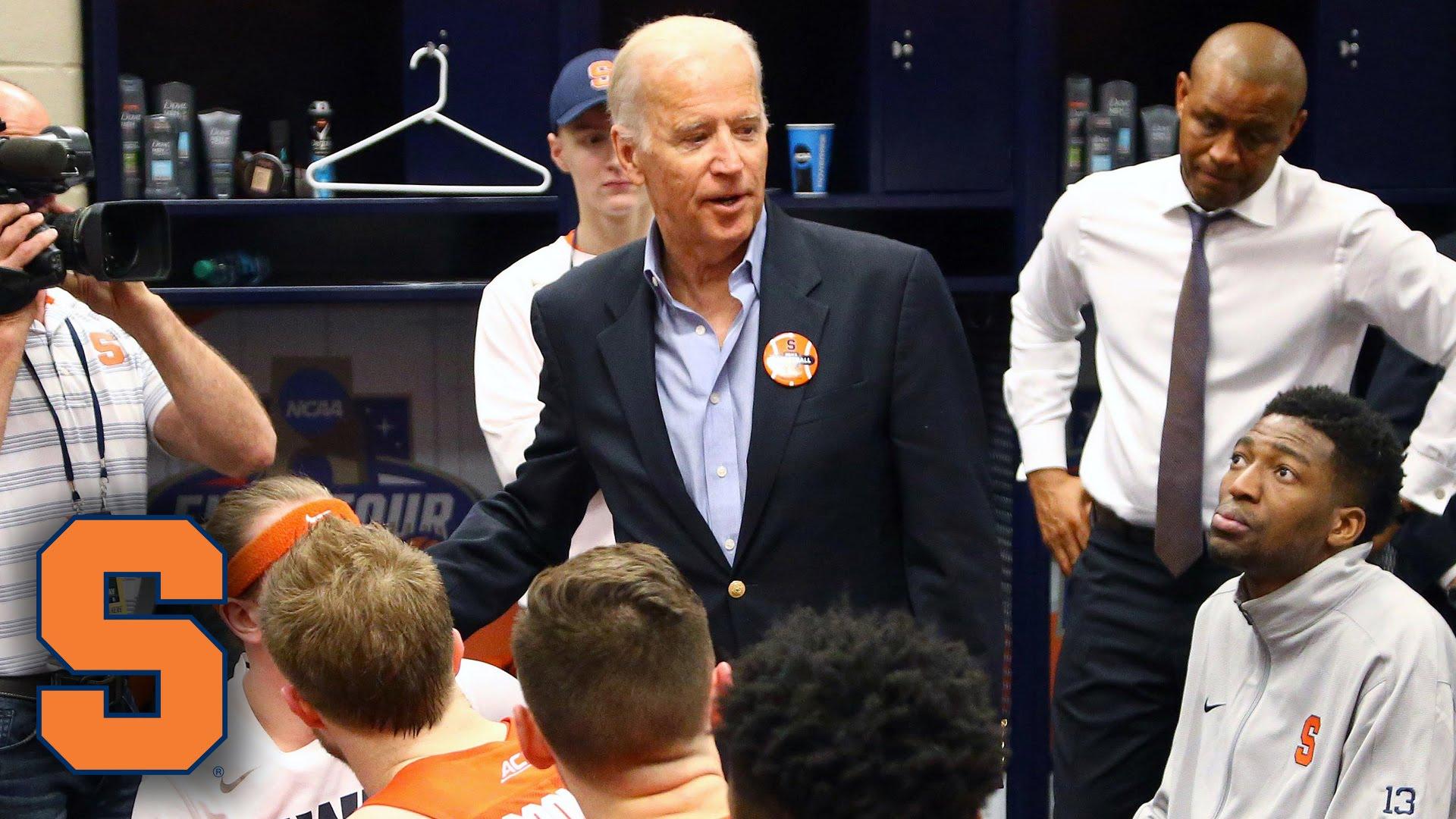 VP Joe Biden speaks to Syracuse after loss to North Carolina