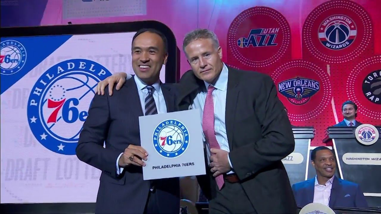 2016 NBA Draft Lottery Reveal (Philadelphia 76ers land #1 pick)