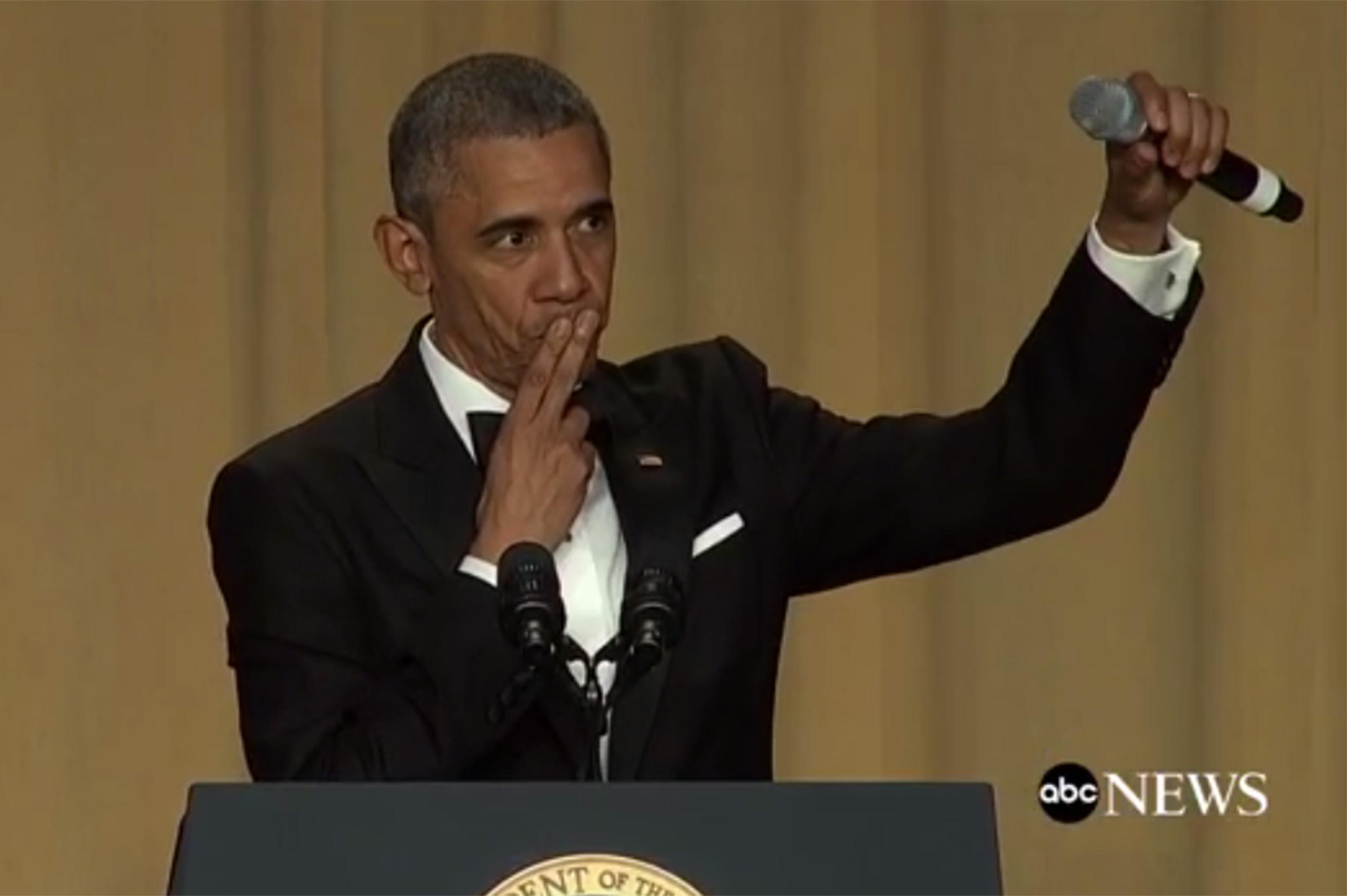 President Obama goes Kobe Bryant