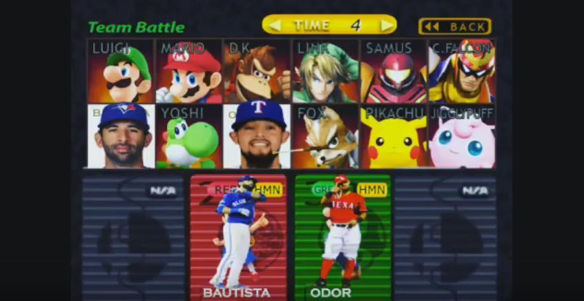 FV Exclusive: Rougned Odor & Jose Bautista fight gets Super Mario Smash Bros treatment