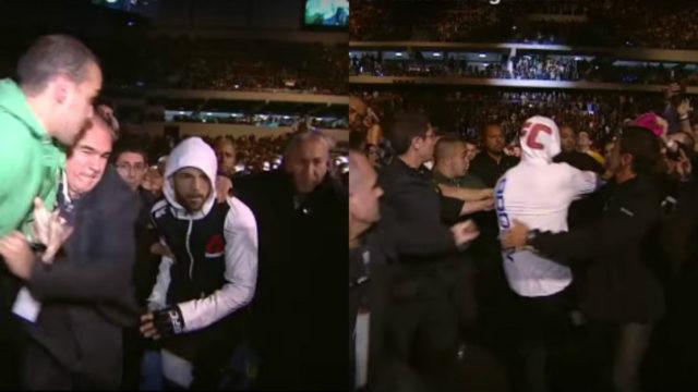 Matt Brown punches Brazilian fan during entrance