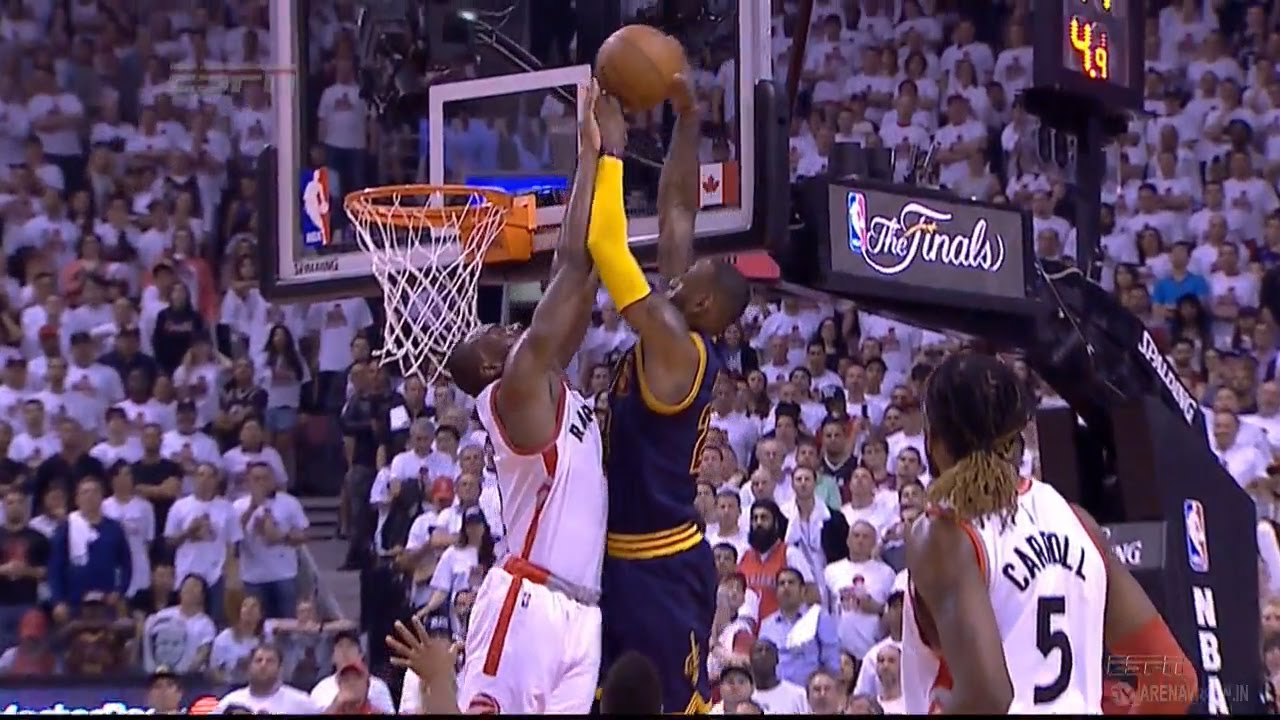 Bismack Biyombo gets tough foul call on LeBron James block shot