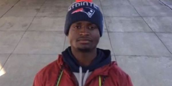 UMass Dartmouth WR stands outside of Gillette Stadium for tryout from the Patriots