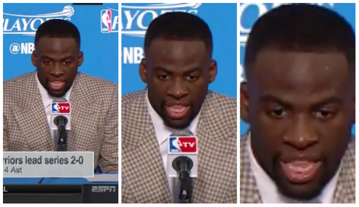 Draymond Green mysteriously freezes during press conference