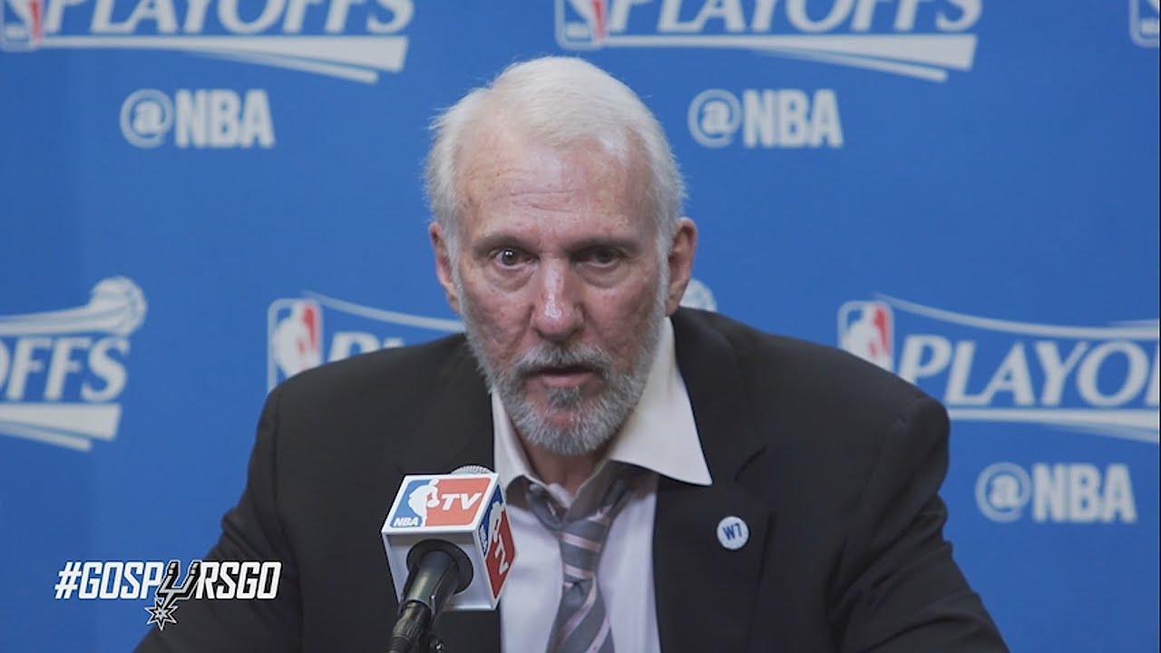 Gregg Popovich post game press conference Spurs vs Thunder (Game 2)