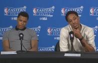Kyle Lowry & DeMar DeRozan speak to media about losing Game 6