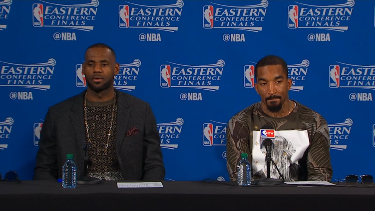 LeBron James & J.R. Smith full Game 3 ECF press conference