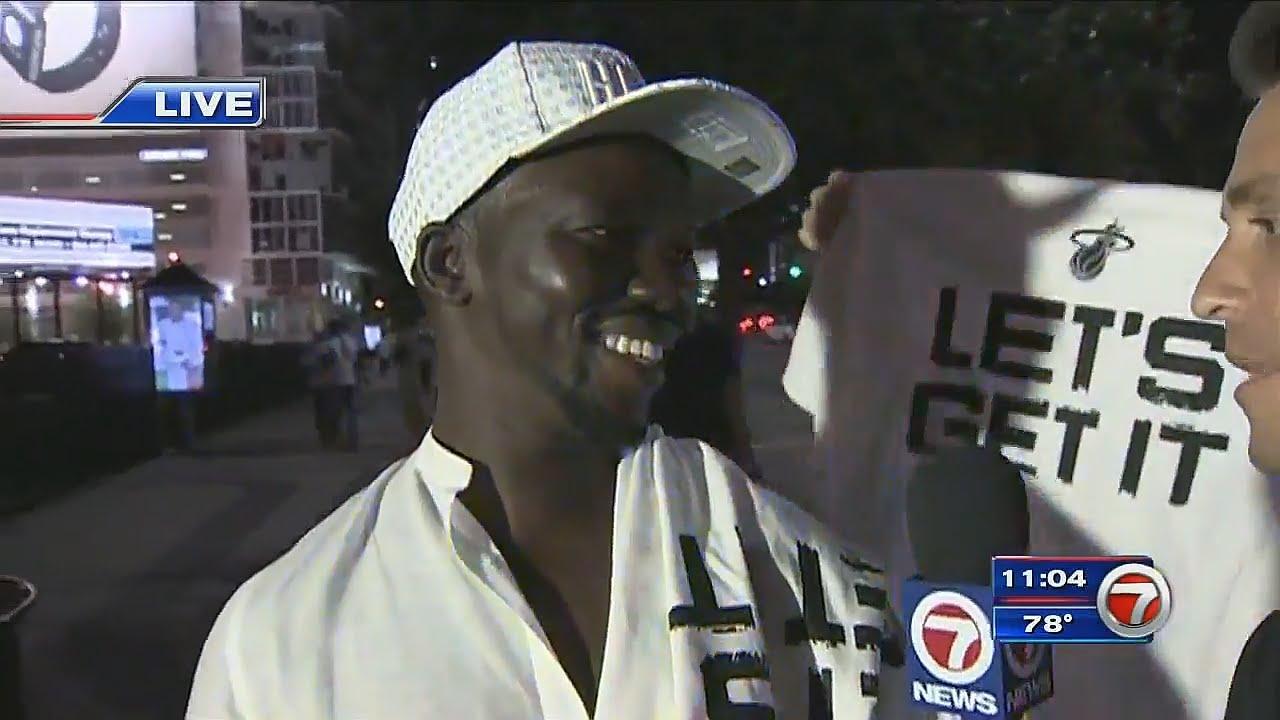 Miami Heat fan curses on live TV in Miami