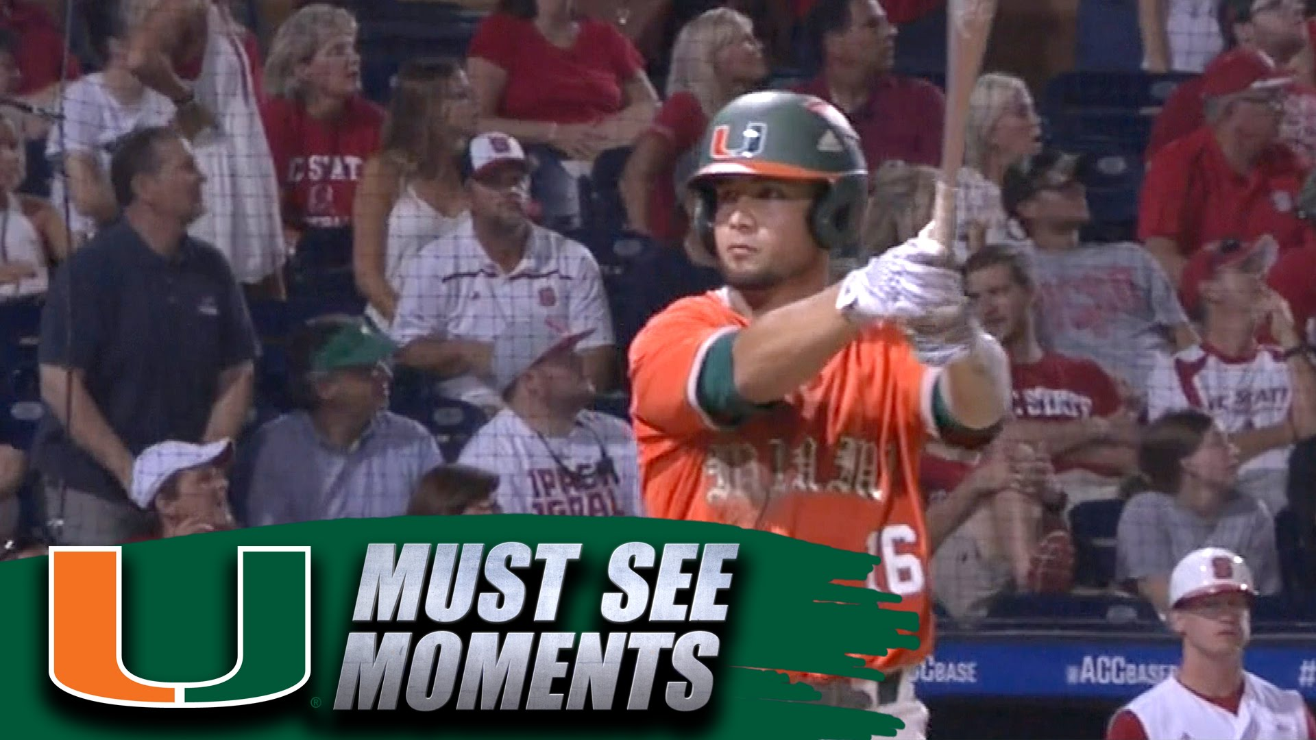Miami Hurricanes player pimps the hell out of his game winning homer