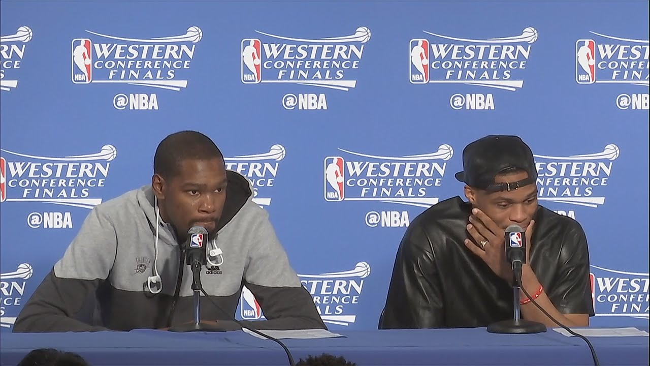 Russell Westbrook laughs at the idea of Steph Curry being an underrated defender