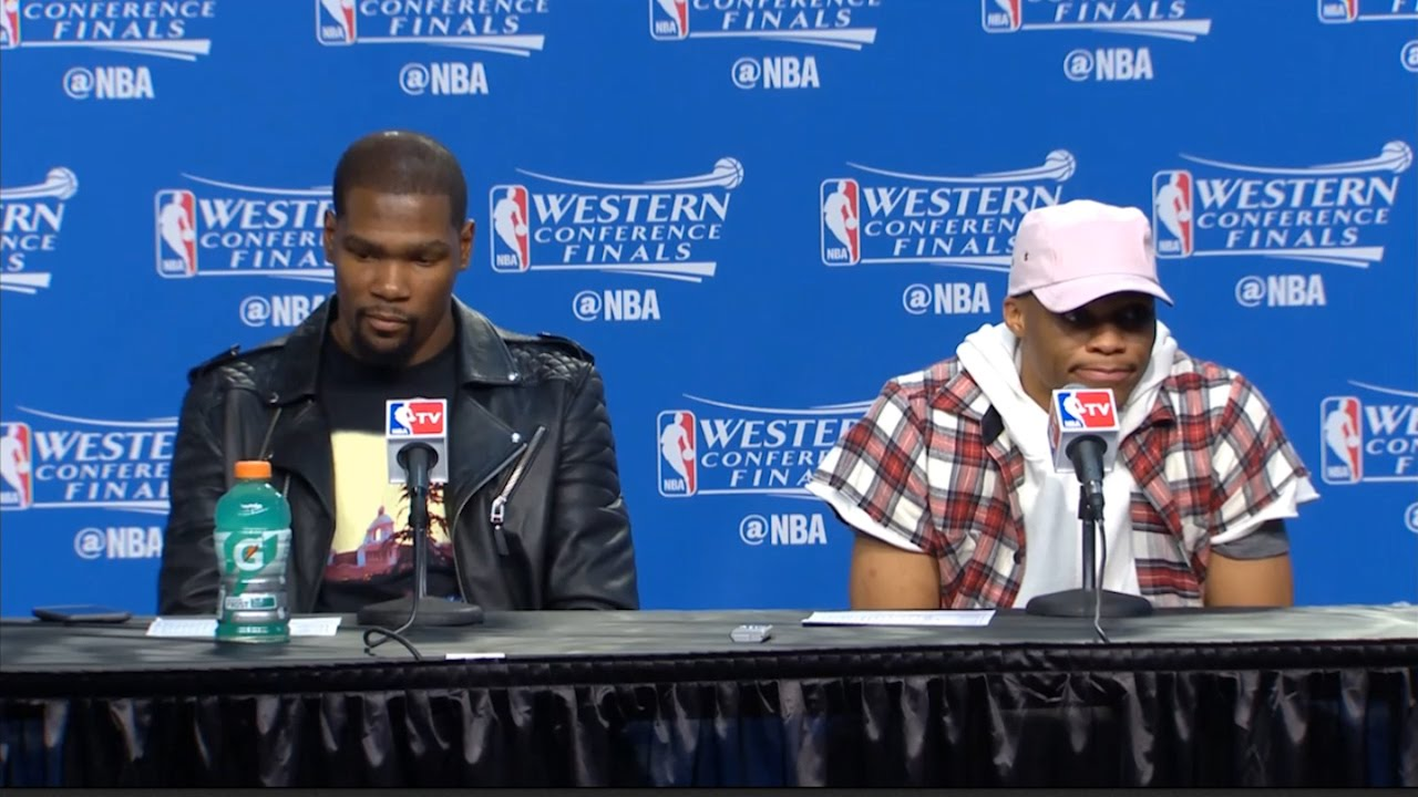 Russell Westbrook says he thinks Draymond Green's kick was on purpose