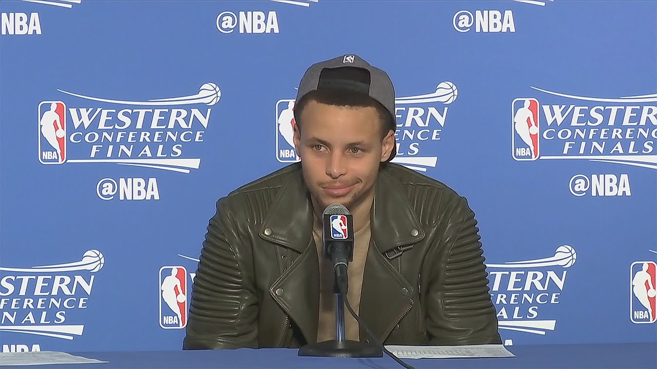 Steph Curry throws shots at doubters in Game 7 press conference