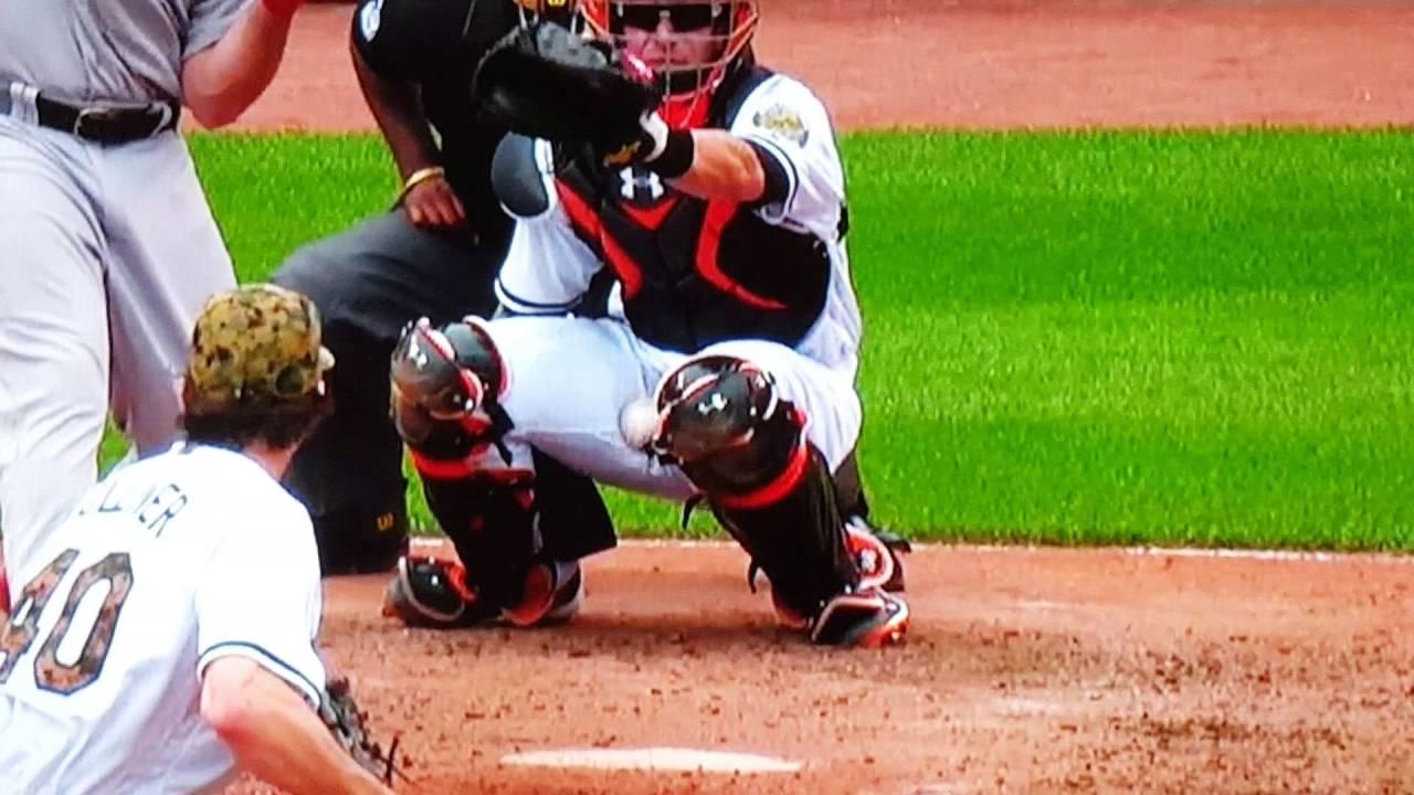 Baltimore Orioles catcher Caleb Joseph placed on DL after brutal nut shot