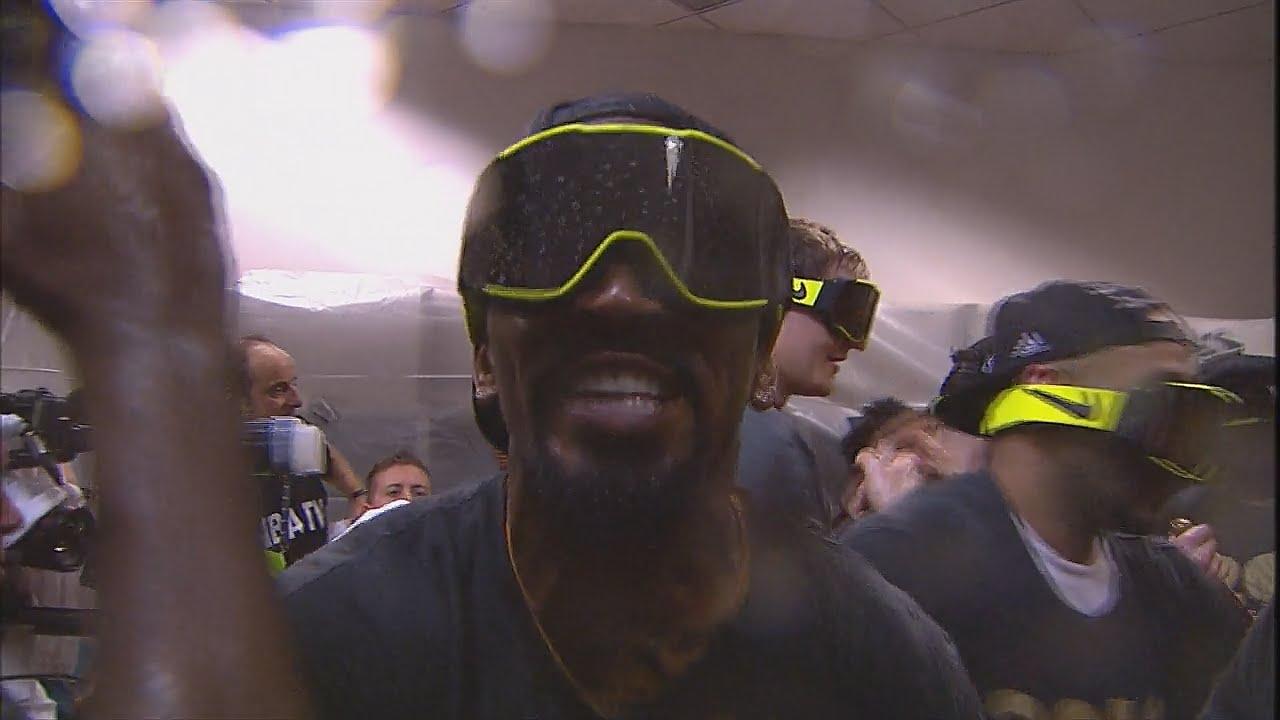 Cleveland Cavaliers locker room celebration