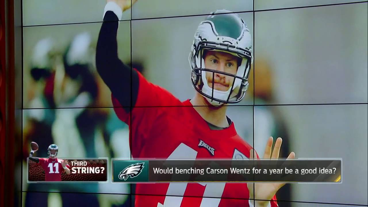 Colin Cowherd: Carson Wentz has more bust potential than Jared Goff