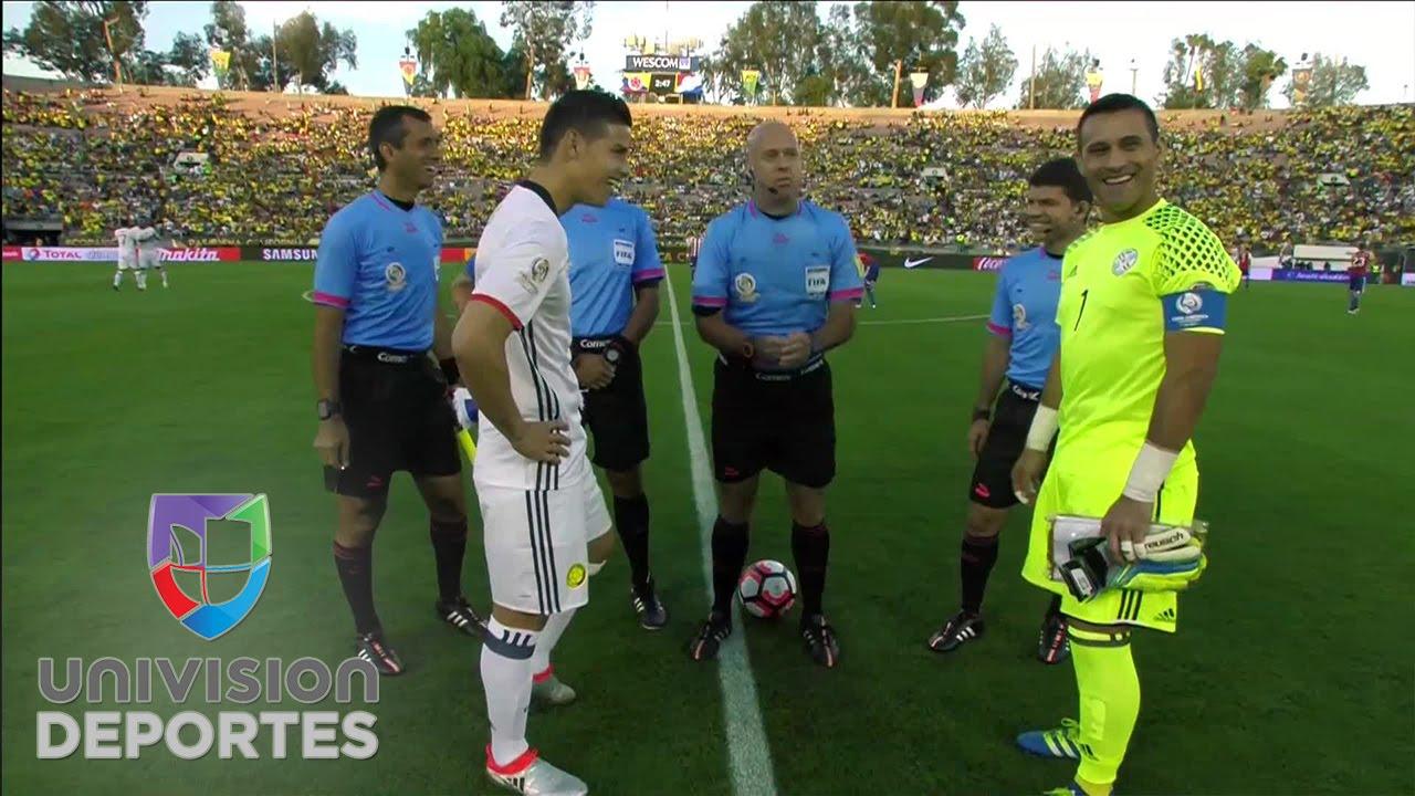 Copa America Centenario coin toss lands on its edge