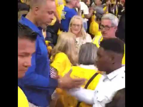 Dell Curry got dabbed on by a fan at Game 7