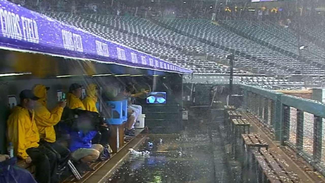 Denver gets pelted with hail postponing the Rockies & Blue Jays