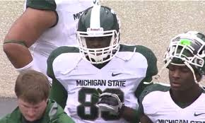 Draymond Green played two snaps for Michigan State at Tight End