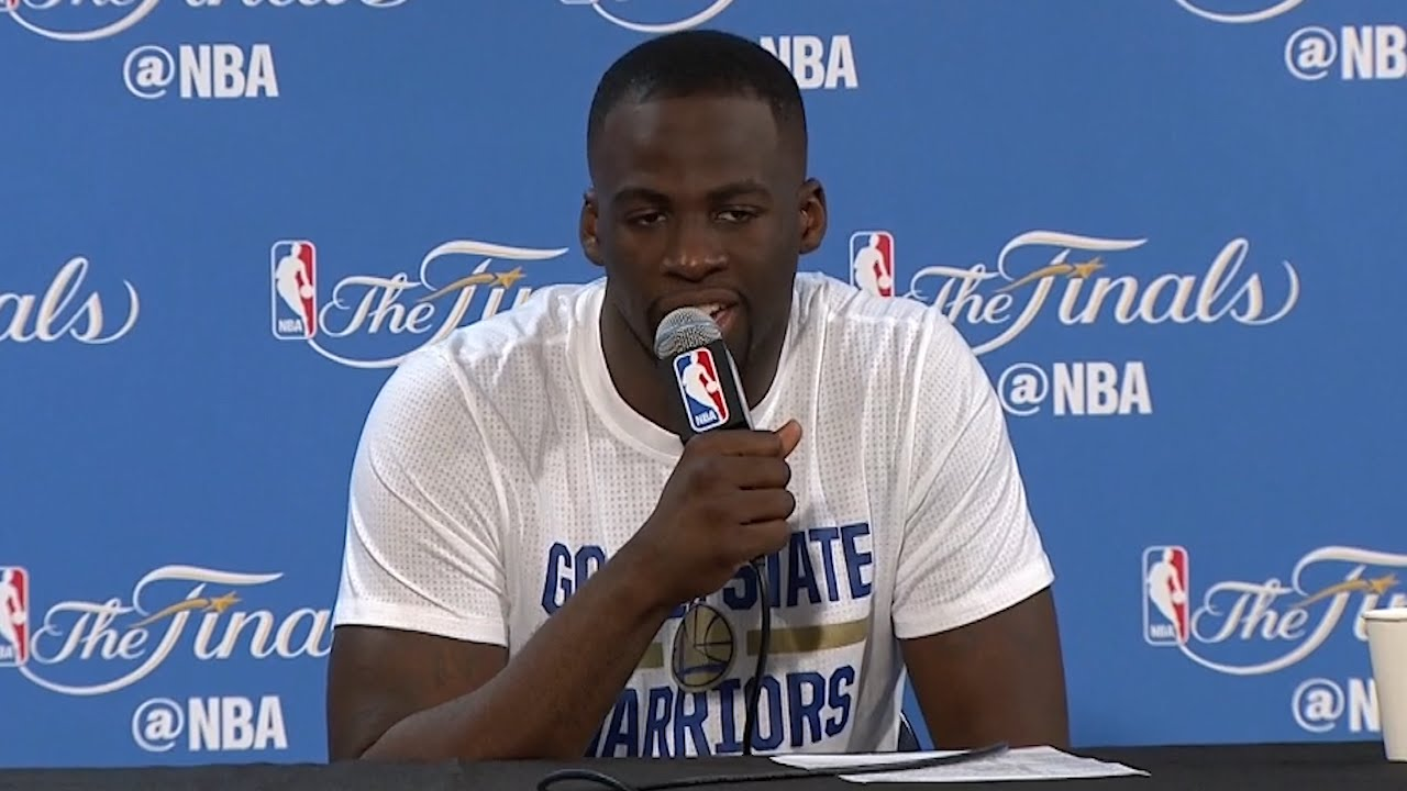 Draymond Green speaks to the media following Game 7 loss