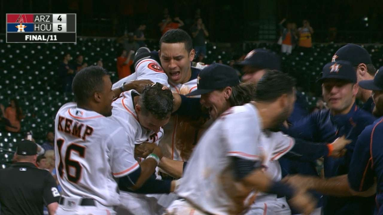George Springer belts a walk off home run for the Astros