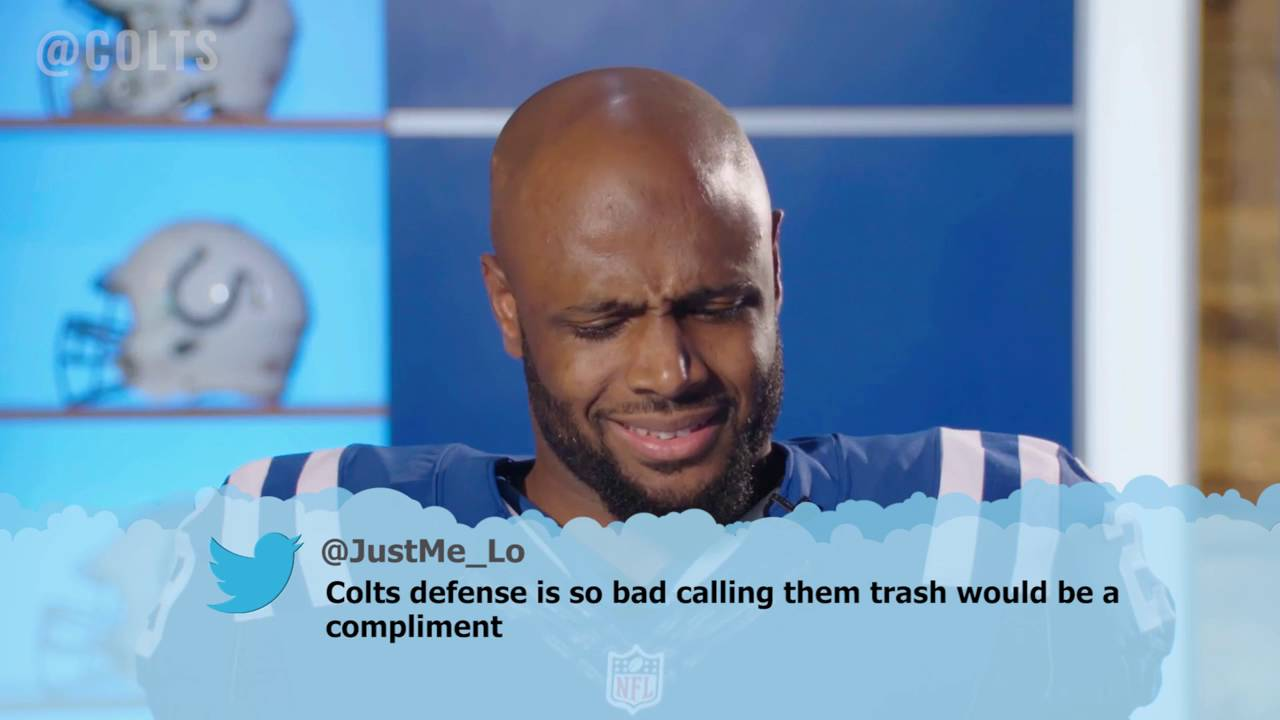 Indianapolis Colts players read mean tweets