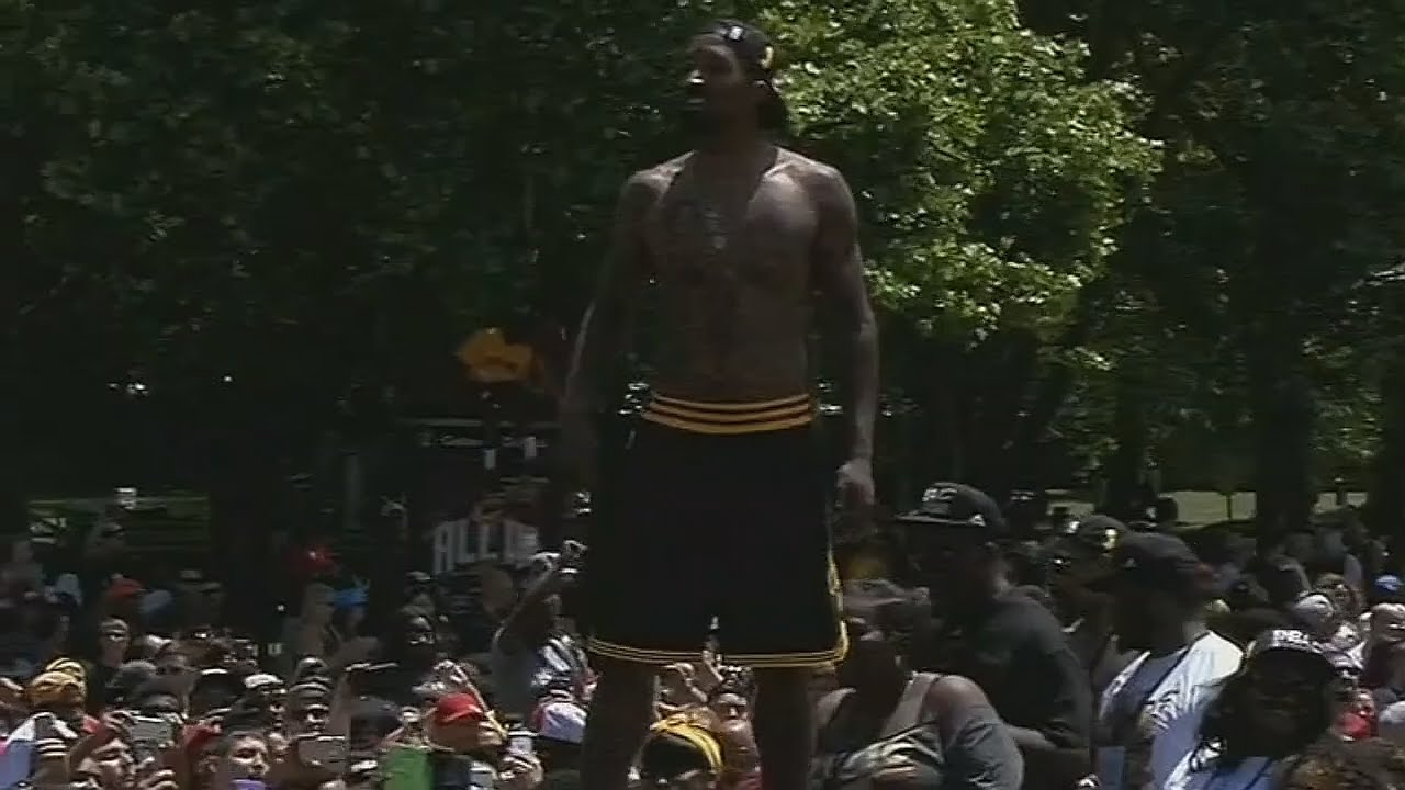 J.R. Smith has been shirtless since he won Game 7