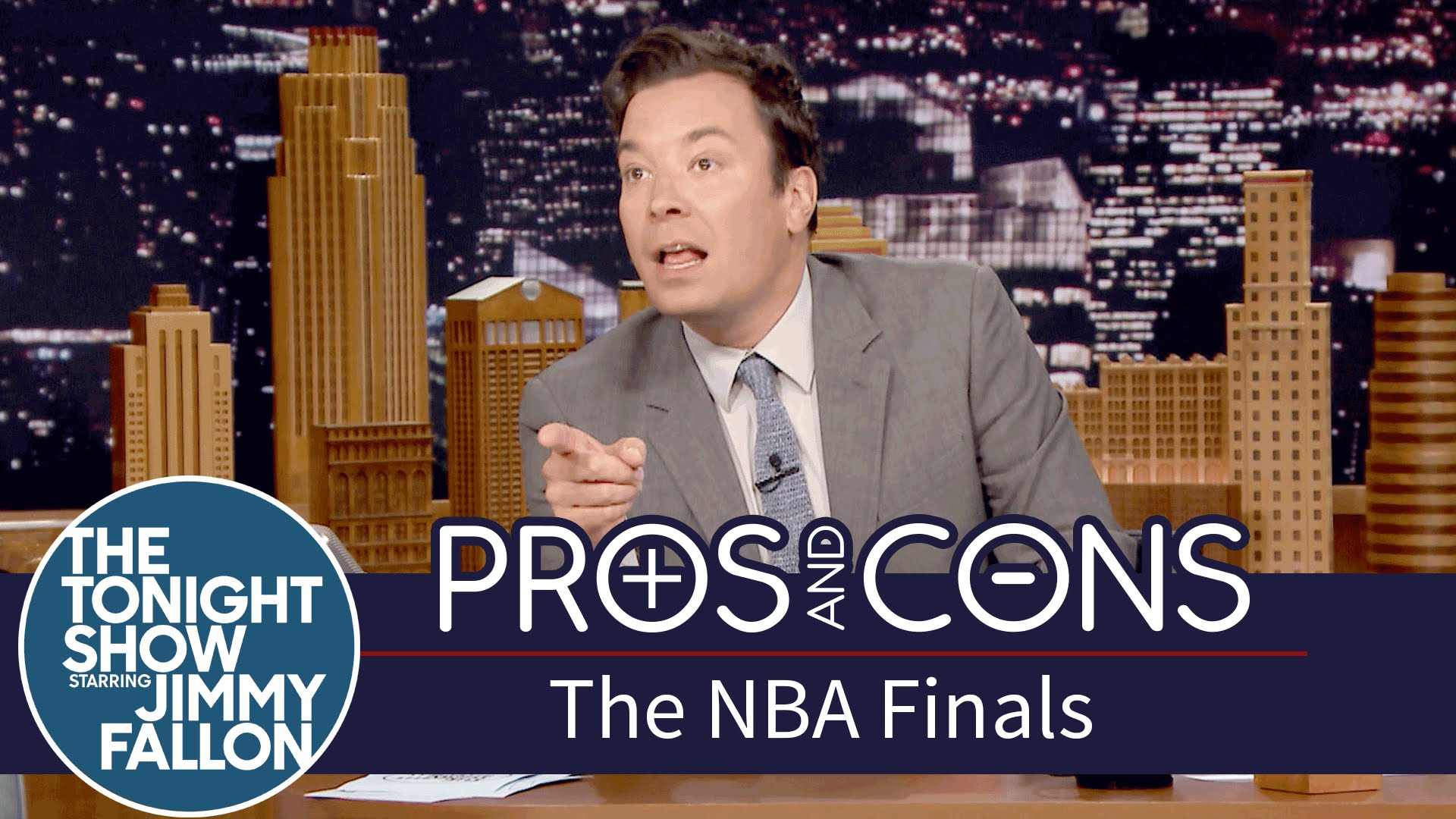 Jimmy Fallon breaks down the pros and cons of this year's NBA Finals