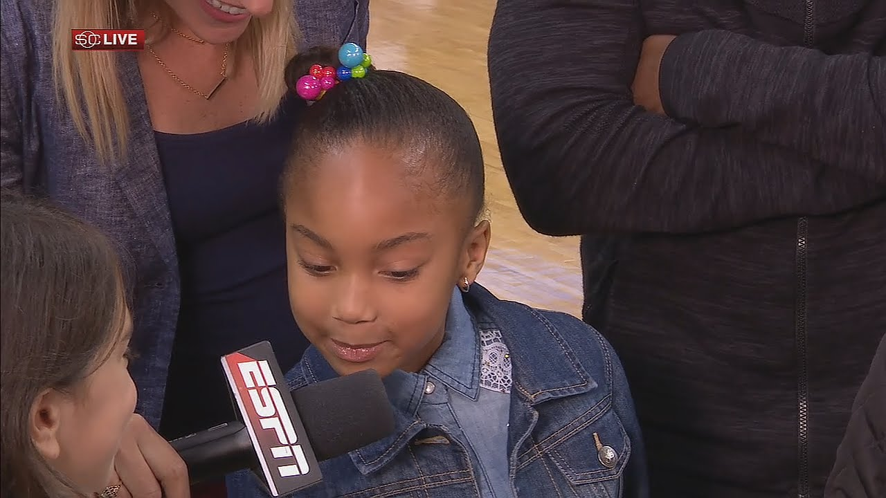 JR Smith's daughter hilariously roasts her Dad on Live TV