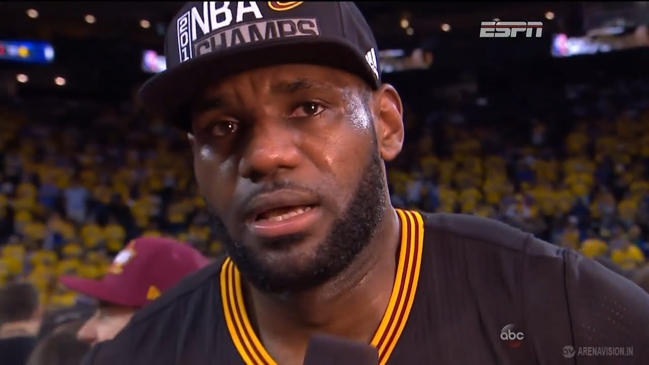 LeBron James with a very emotional post game interview