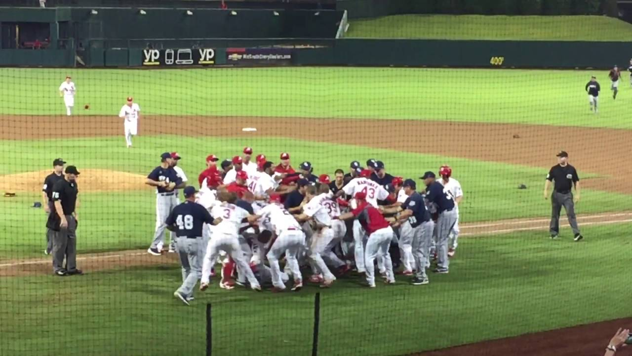 Minor League Baseball game turns into bench-clearing brawl