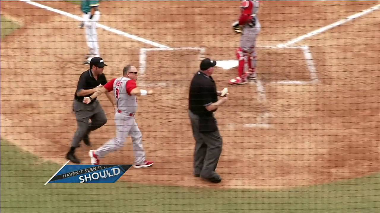 NC State baseball manager unleashes spin move & loses his mind