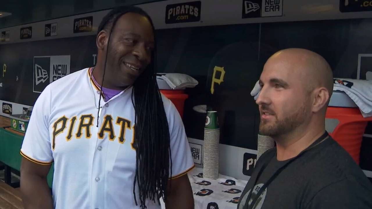 Pirates honor Booker T & Pittsburgh's very own Kurt Angle