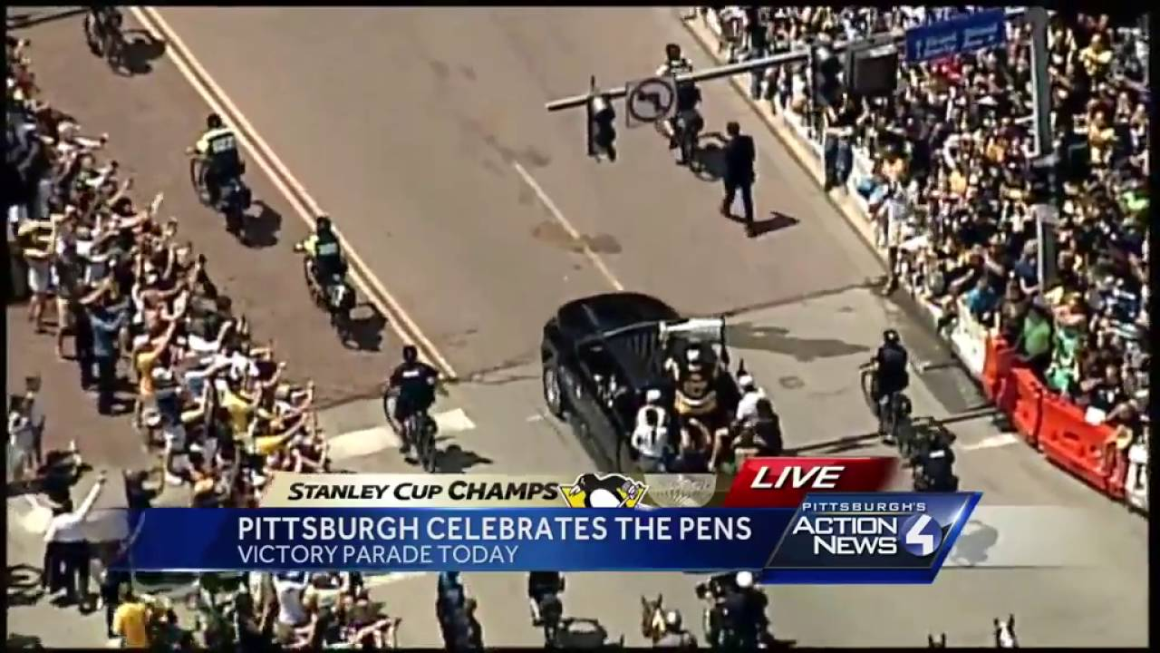 Pittsburgh Penguins parade the Stanley Cup
