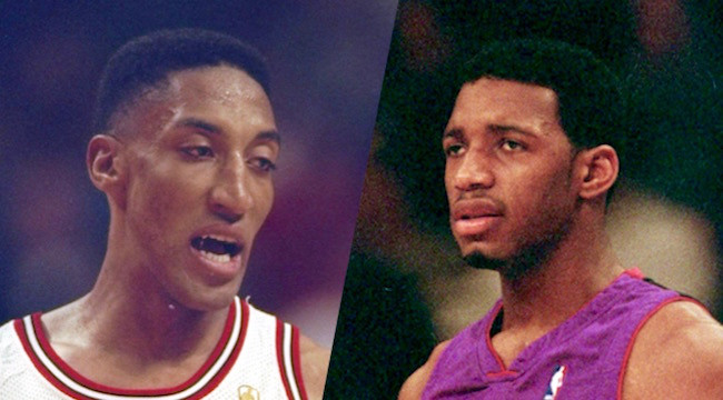 Michael Jordan stopped the Bulls from trading Scottie Pippen for Tracy McGrady