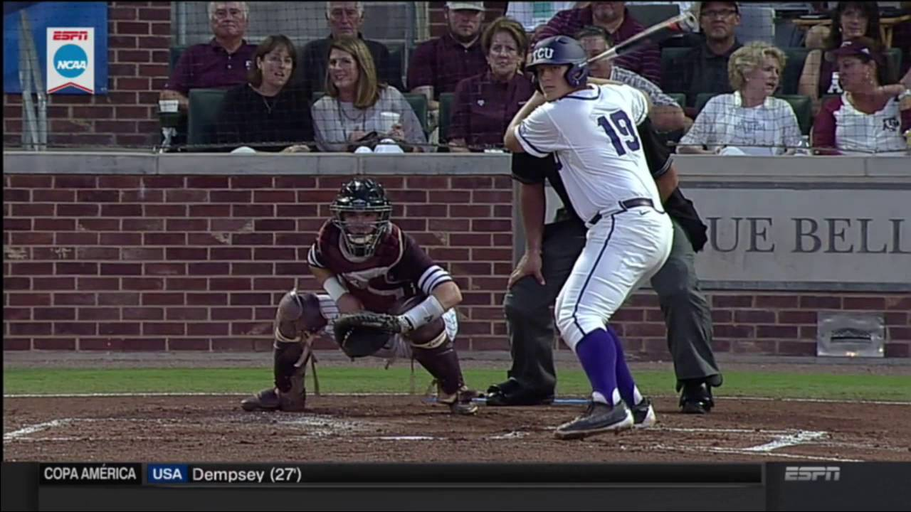 Texas A&M Aggies' catcher mask explodes from foul ball