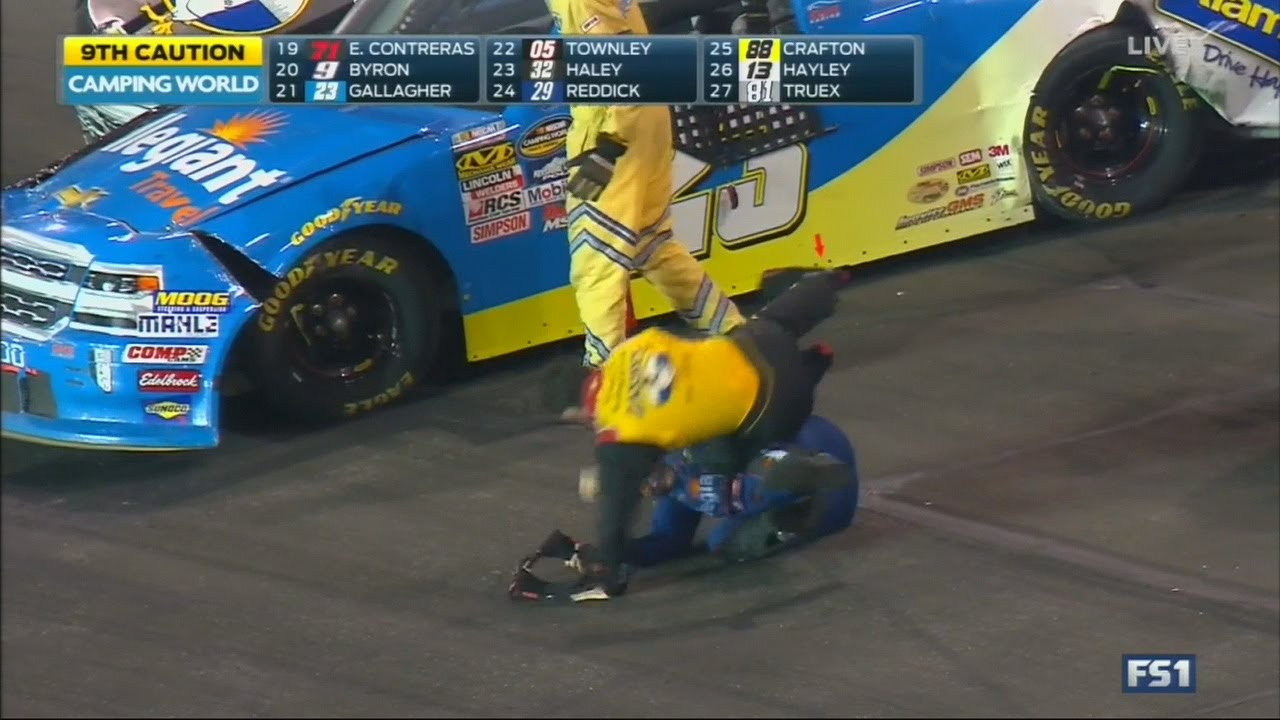The worst fight of all time breaks out at the World Truck Series