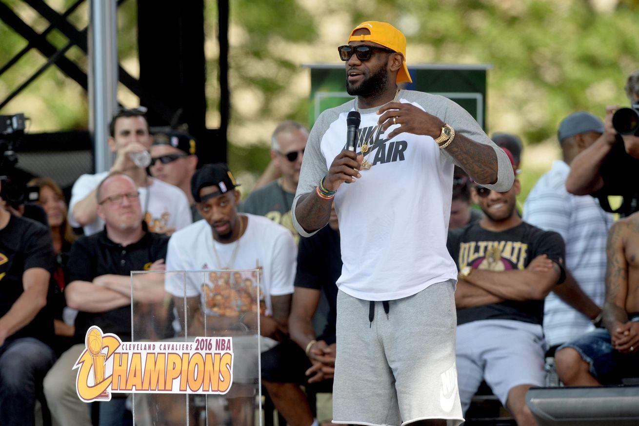 LeBron James full Championship Parade speech to his Cavs teammates