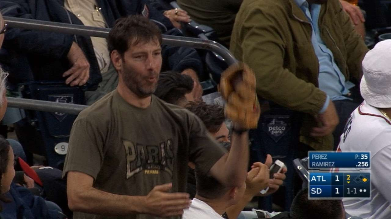 What's the best way to celebrate catching a foul ball? The Robot