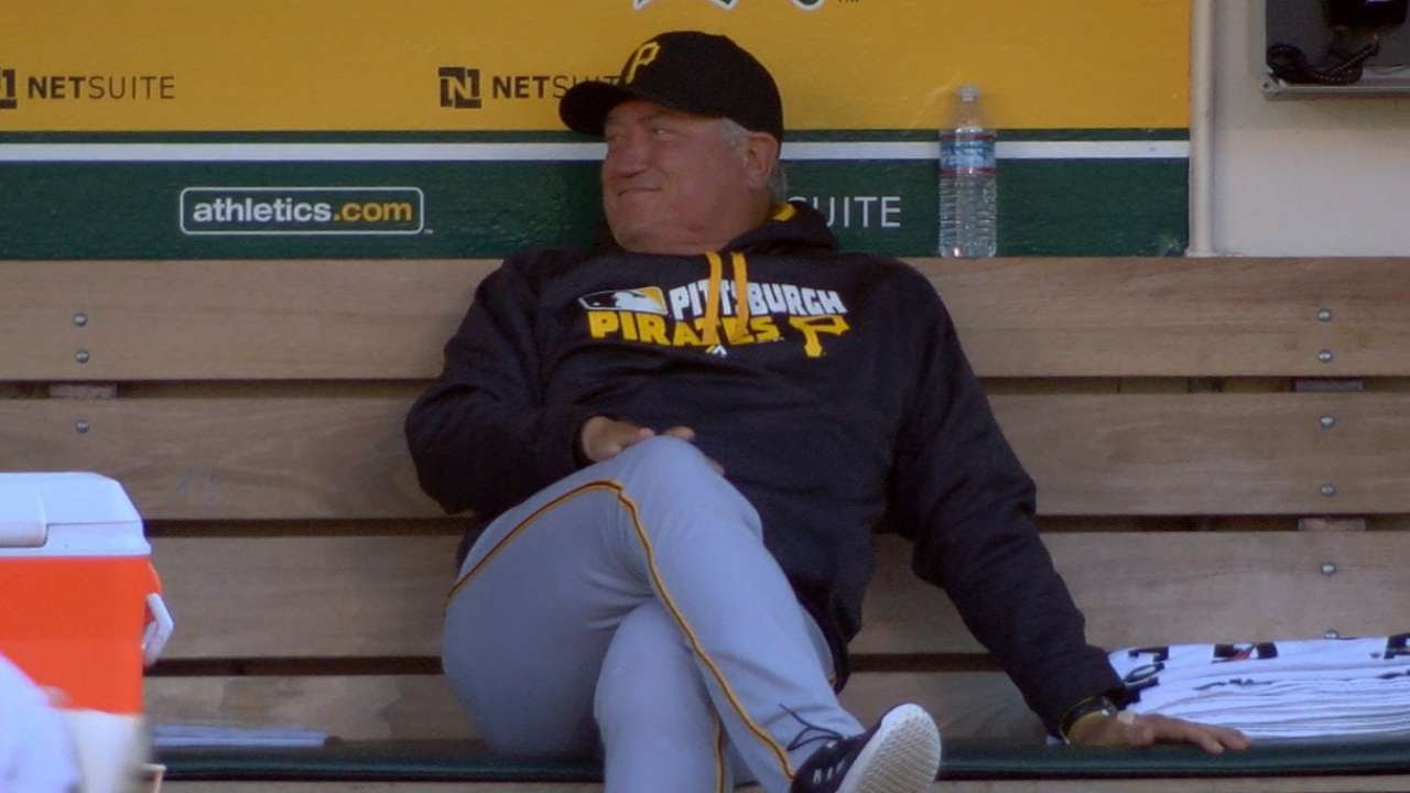 Clint Hurdle was Lit in the Pirates dugout