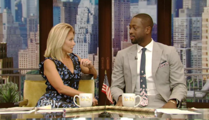 Dwyane Wade co-hosts Live with Kelly after signing with Bulls
