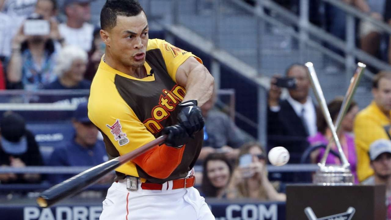 Giancarlo Stanton sets record with 61 homers to win Derby
