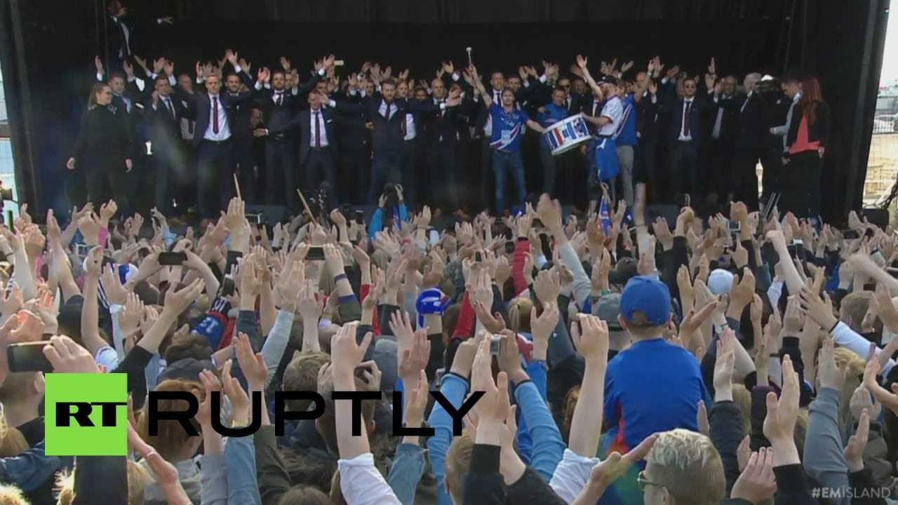 Iceland performs the ultimate viking clap on home soil