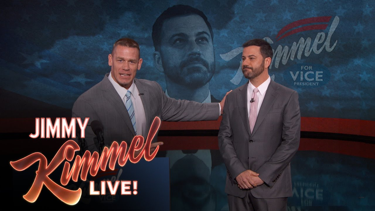 John Cena Endorses Jimmy Kimmel for Vice President